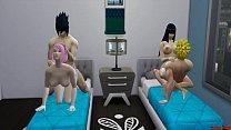 7671 Hinata y Sakura Anal Folladas Juntas Por Sus Maridos Naruto Hentai Sexo en Familia preview