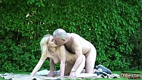 Grandpa gets to fuck a young tight virgin pussy and gets a blowjob صورة