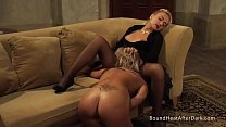 Lesbian Madame Moans And Orgasms From Slave's Pussy Licking Skills