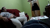 Hot schoolgirl warms my dick and makes her fat and hard, this so hot that she rides hard