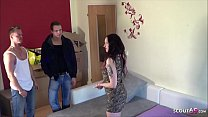GERMAN LONELY WIFE LURE TWO BOYS IN HER FLAT TO FUCK 3SOME