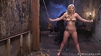 Big ass blonde rough fucked in dungeon