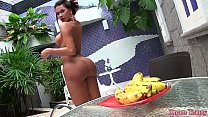 Shemale Erica Lee inserting a banana