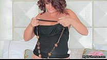 Hot latina getting her clothes preview image