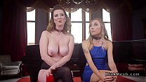 Blonde slave anal banged in threesome bdsm preview image