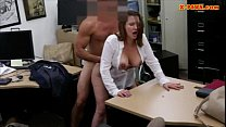 Horny busty woman fucked in the backroom for a plane ticket thumbnail