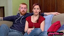 Nervous amateur couple goes to a swinger party to switch