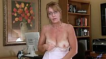 Big Tits Mature Office Masturbation