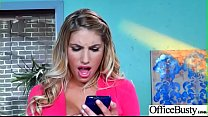Slut Girl (August Ames) With Round Huge Tits Get Nailed In Office vid-05