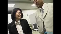 Office Lady Rapped By Her Boss Getting Her Hairy Pussy Fingered On The Floor In preview image