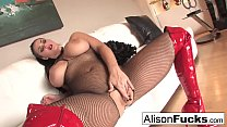 Alison Tyler makes you jerk your cock for her