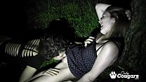 Bianca Stone and Star Nine Fuck Outdoors In The Dark