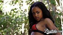 Ebony beauty Amillian Kush filled with BBC before facial