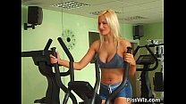 Gym lesbian game with two super
