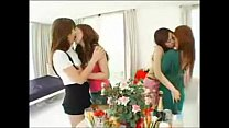 6 hot asian french-kissing each other