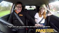 Fake Driving School Slim hot redhead minx fucks better then she drives thumbnail