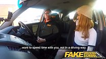 Fake Driving School Slim hot redhead minx fucks better then she drives Preview