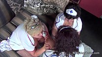 Three bbw grannies in nurses outfits Vorschaubild