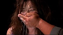 Girl Forced Throat Gagging and Vomit Puke Puking Vomiting Image