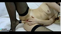 TEENY GIRL WITH WET PUSSY FUCK ANAL AND MOANING chaturbate.com/sexykiska thumbnail