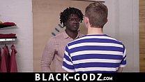 Interracial black monster cock tearing open white dude bareback BLACK-GODZ.COM