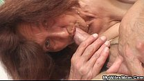 She finds old mom riding her hubby's dick • [Hentai.Ru] thumbnail