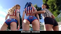 BFFS - Athletic Teens (Vanessa Sky) (Jewelz Blue) (Mackenzie Moss) Try Orgy After Soccer Practice