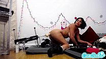 veronica avluv gets fucked by the fuckbot for christmas thumbnail