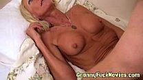 fake tit granny pounding guy