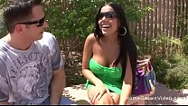 Busty Latina couldnt wait to be pounded by a bi...