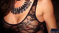 Big boobs MILF model in black lingerie Miranda Nicole