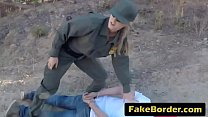 Two babes get pussies banged at border outdoors pornhub video
