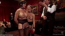Giant boobs MILF slaves fucking