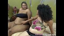 Sexy preggo ebony dykes lick one anothereing-extremely-horny-hi-1