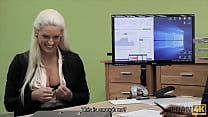 LOAN4K. Loan agent uses his powers to seduce hot blonde beauty