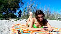 Perfect babe fuck on public beach without any p...