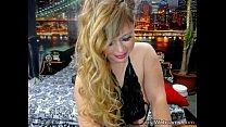Busty blonde MILF teasing on webcam صورة