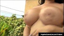 BBWs Angelina Castro & Lexxxi Lockhart Suck Big Black Cock! صورة