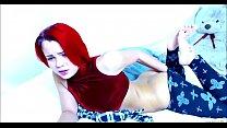 Redhead Teen Has Something Stuck Inside Her Pan...