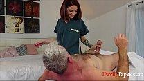 Slutty Nurse Satiates Grandpa's Needs