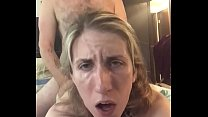 Stella wears a collar, Mark cums in the first 5 seconds of video but tries to keep going