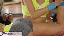 Fitness Rooms Naughty Asian babe fucks fit and ... Thumbnail