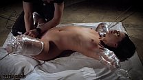 Rough bondage slapping her pussy and the slave ...