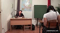 Chubby french student sodomized hard in classroom Preview