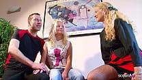 German Mature teach Skinny Teen how to Fuck Hug...