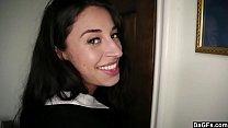 Teen Latina surprises BF after Church  Dagfs