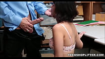 Thick Latina Teenager Shoplifter Rough Fuck From Angry Security Officer
