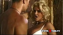 Rocco Siffredi riding a blonde doggystyle as a horse