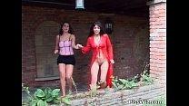 Outdoor lesbian babes having fun's Thumb