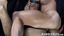 Hairy fuckboy barebacked after anal play with Sean Duran